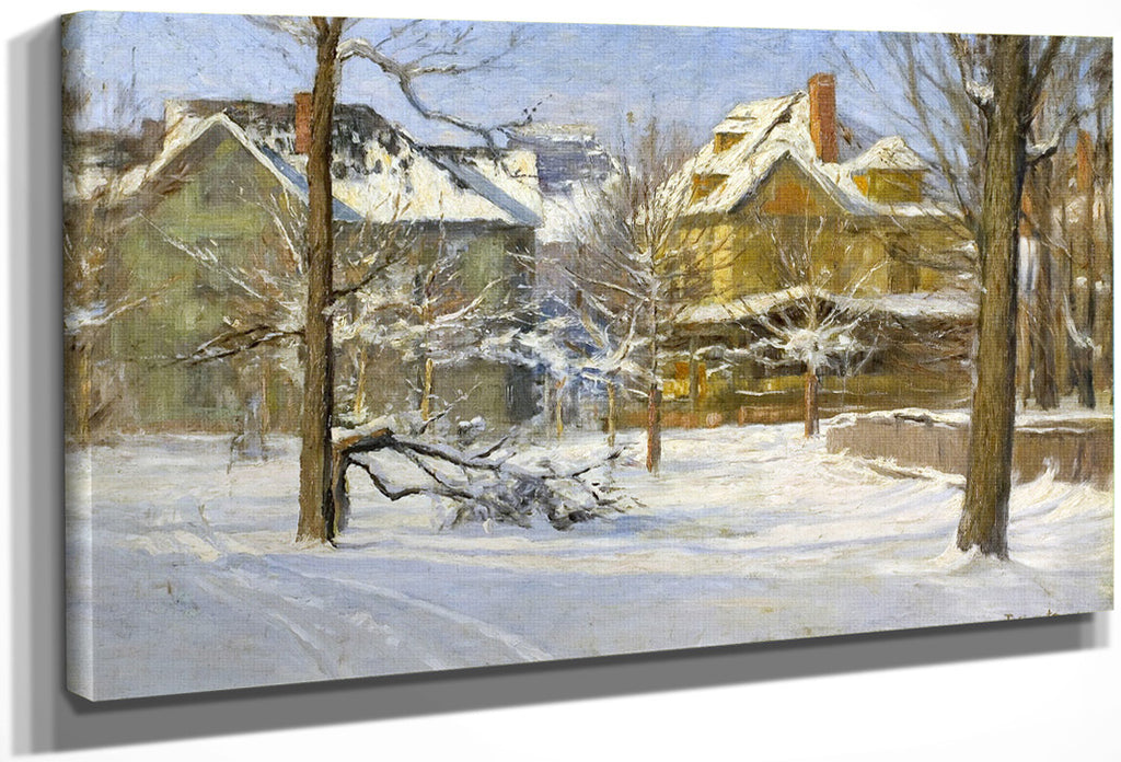 16Th Street, Indianapolis In Snow By Theodore Clement Steele