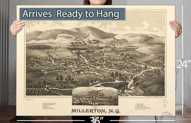 1887 Millerton Ny Vintage Map