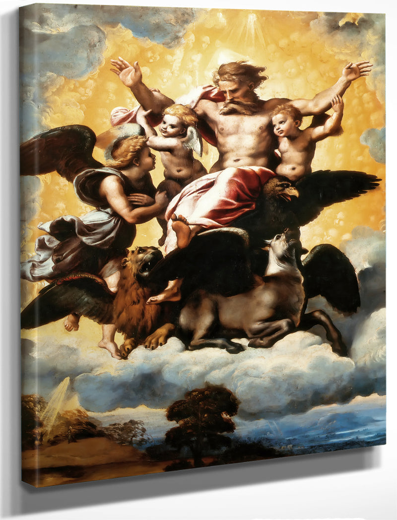 Vision Of The Prophet Ezekiel By Raphael