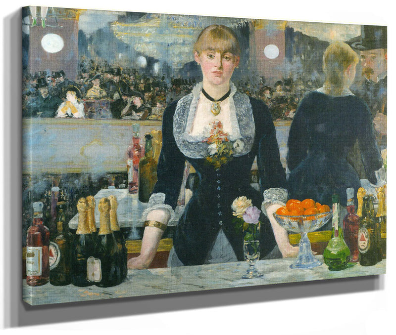 A Bar At The Folies Bergere 1882 By Edouard Manet