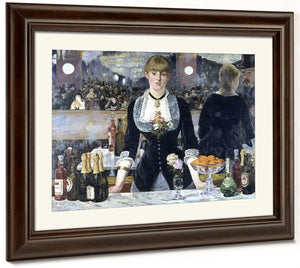 A Bar At The Folies Bergere By Edouard Manet