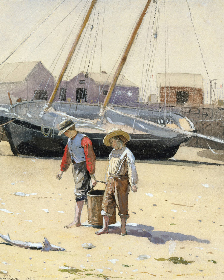 A Basket Of Clams By Winslow Homer