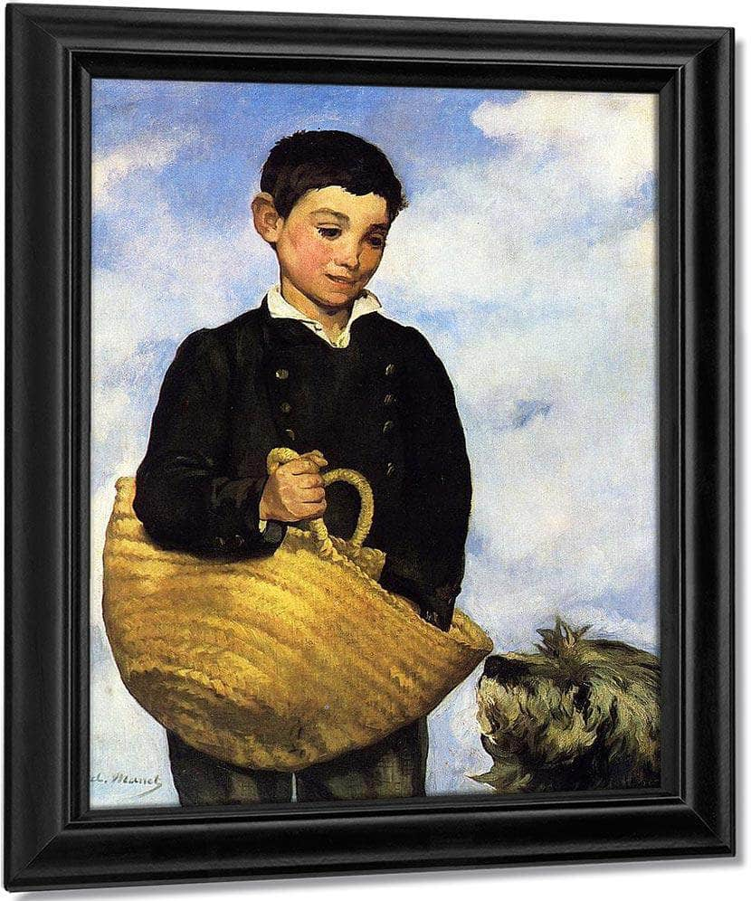 A Boy With A Dog 1861 Oil On Canvas 92X72Cm By Edouard Manet