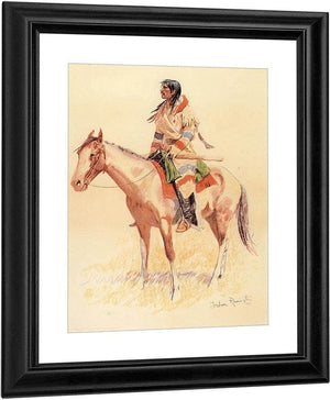 A Breed Aka An Indian Scout By Frederic Remington
