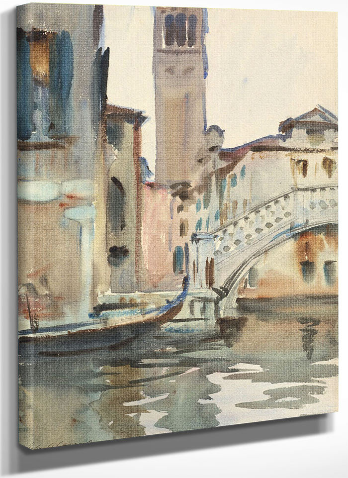 A Bridge And Campanile, Venice By John Singer Sargent