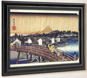 A Bridge In The Rain By Hiroshige