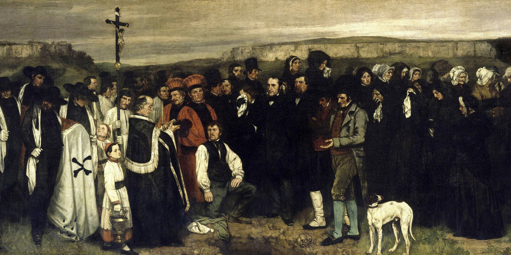 A Burial At Ornans Un Enterrement A Ornans By Gustave Courbet