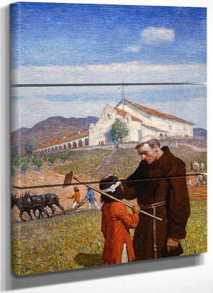 A California Mission, 1918 By Nc Wyeth