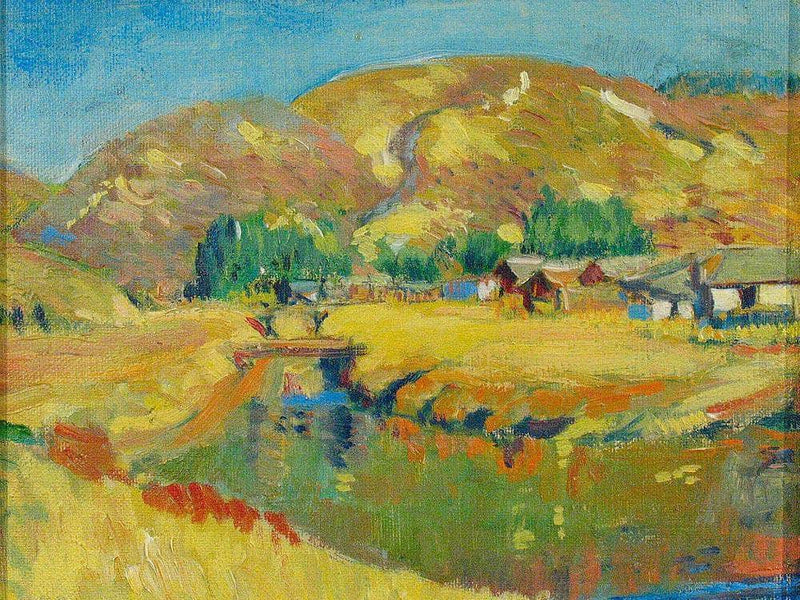 A California River Landscape By Manner Of Joseph Kleitsch