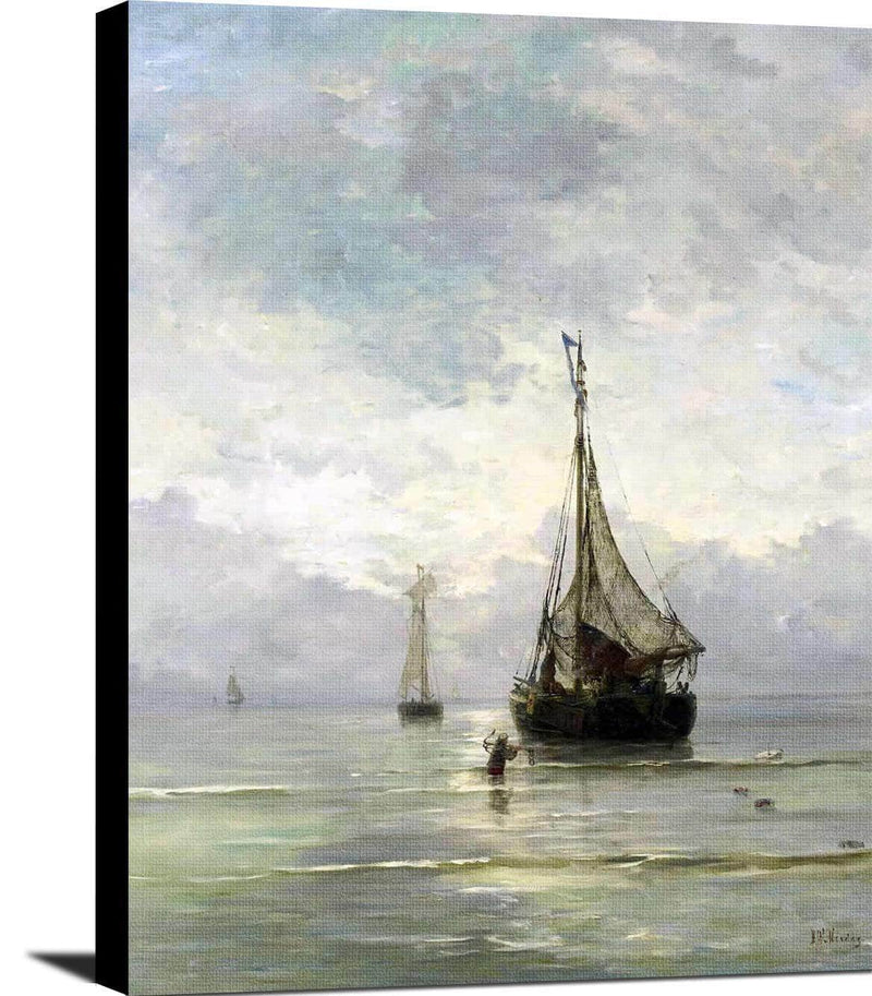 A Calm Sea Painting Hendrik Willem Mesdag Canvas Art