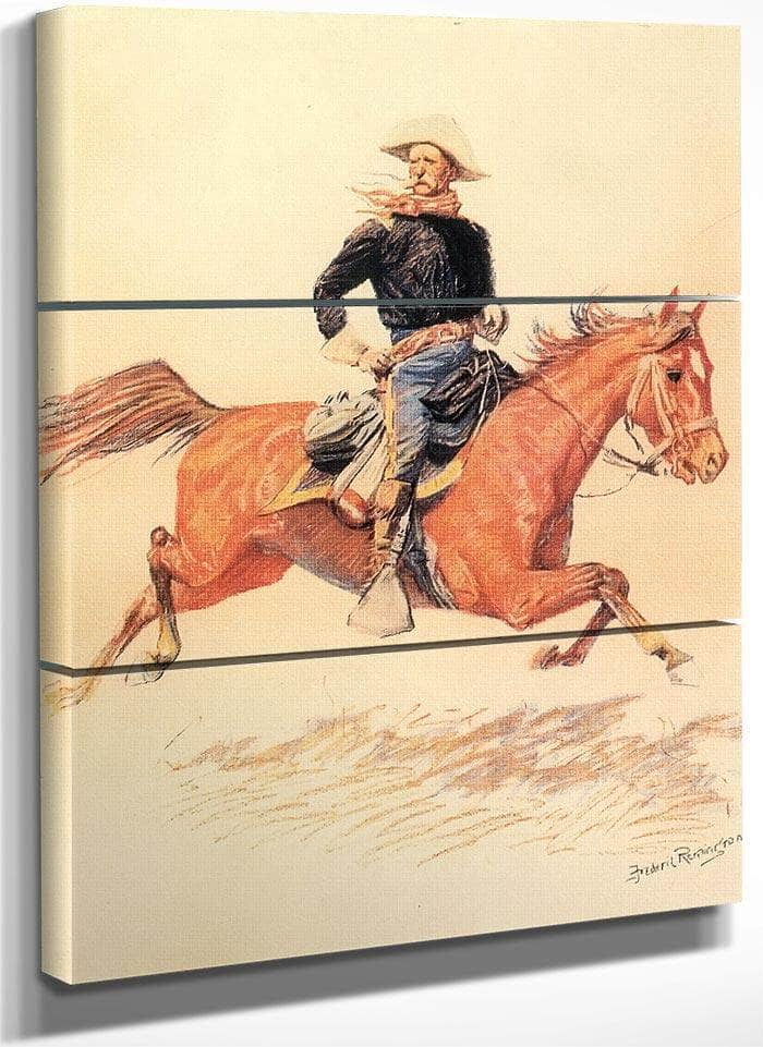 A Calvary Officer By Frederic Remington