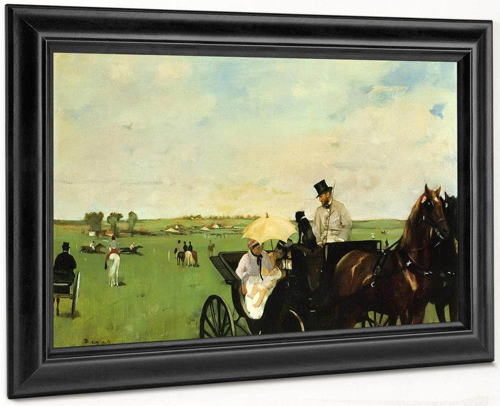 A Carriage At The Races By Edgar Degas
