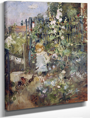 A Child In The Rosebeds By Berthe Morisot
