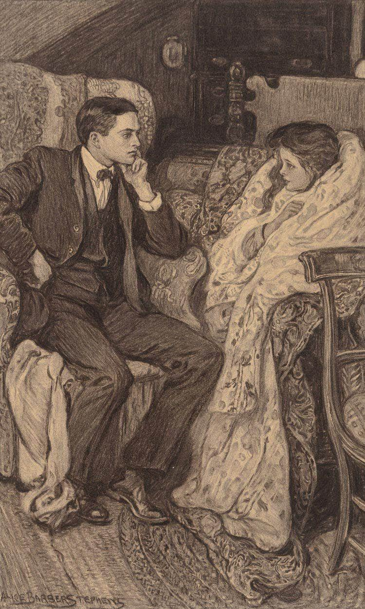A Conversation By Alice Barber Stephens