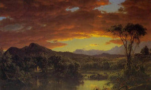 A Country Home By Fredric Edwin Church