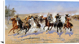 A Dash For The Timber Painting Frederic Remington Canvas Art