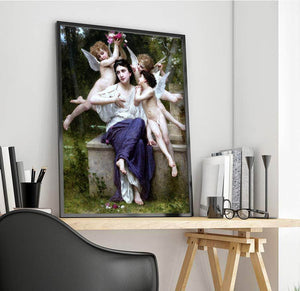 A Dream Of Spring Painting William Adolpe Bouguereau Canvas Art
