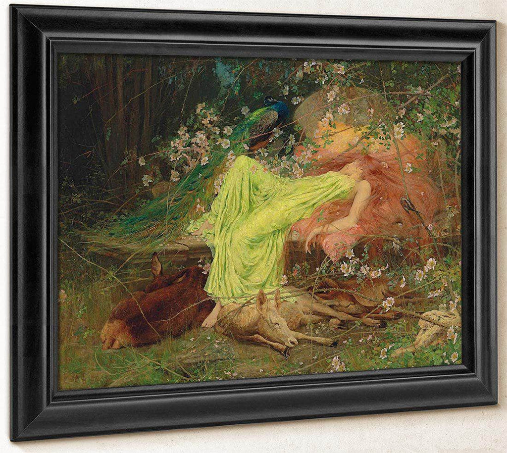A Fairy Tale All Seemed To Sleep The Timid Hare On Form By Arthur Wardle