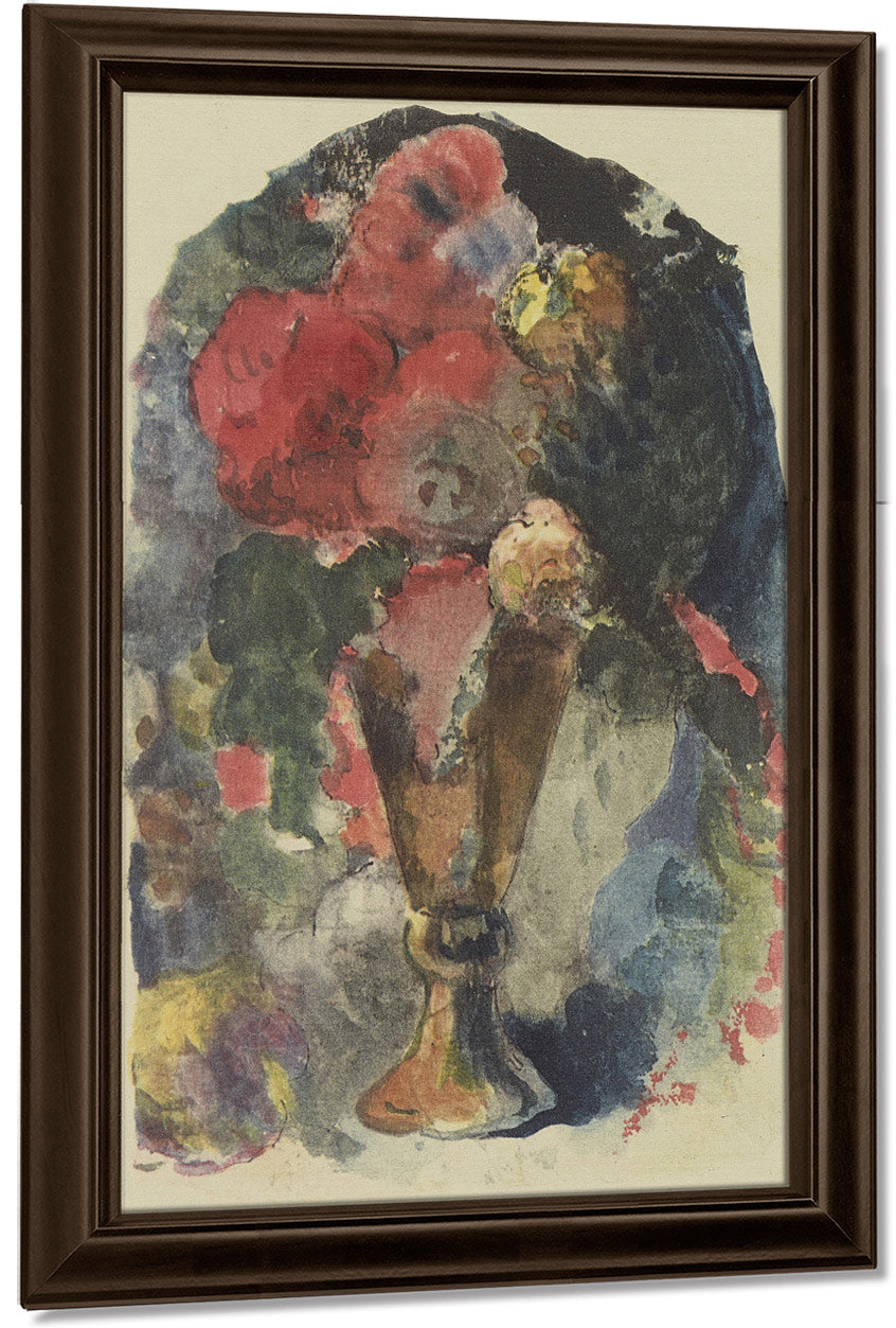 A Flower Still Life After Delacroix By Eugene Henri Paul Gauguin