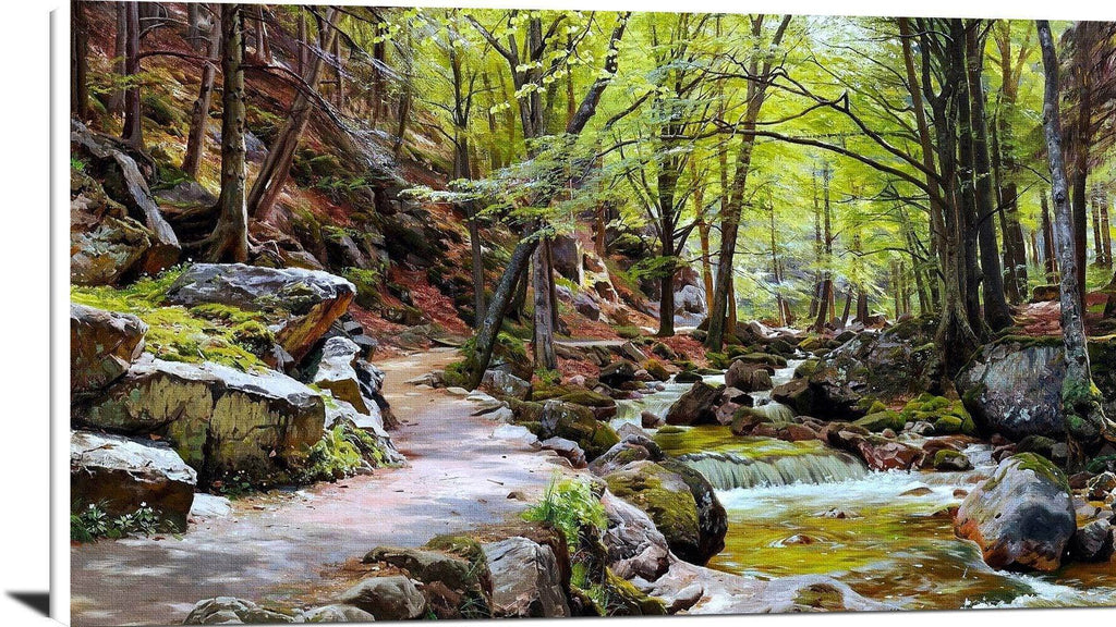 A Forest Near Ilsenburg In The Harz Painting Peder Monsted Canvas Art