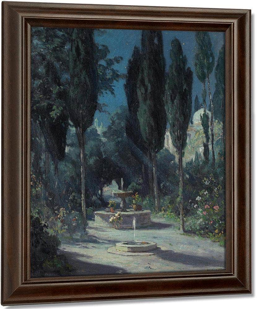 A Garden In Granada In The Moonlight By Colin Campbell Cooper