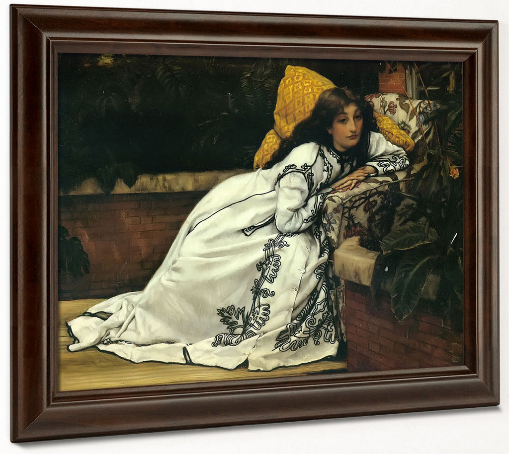 A Girl In An Armchair By James Tissot