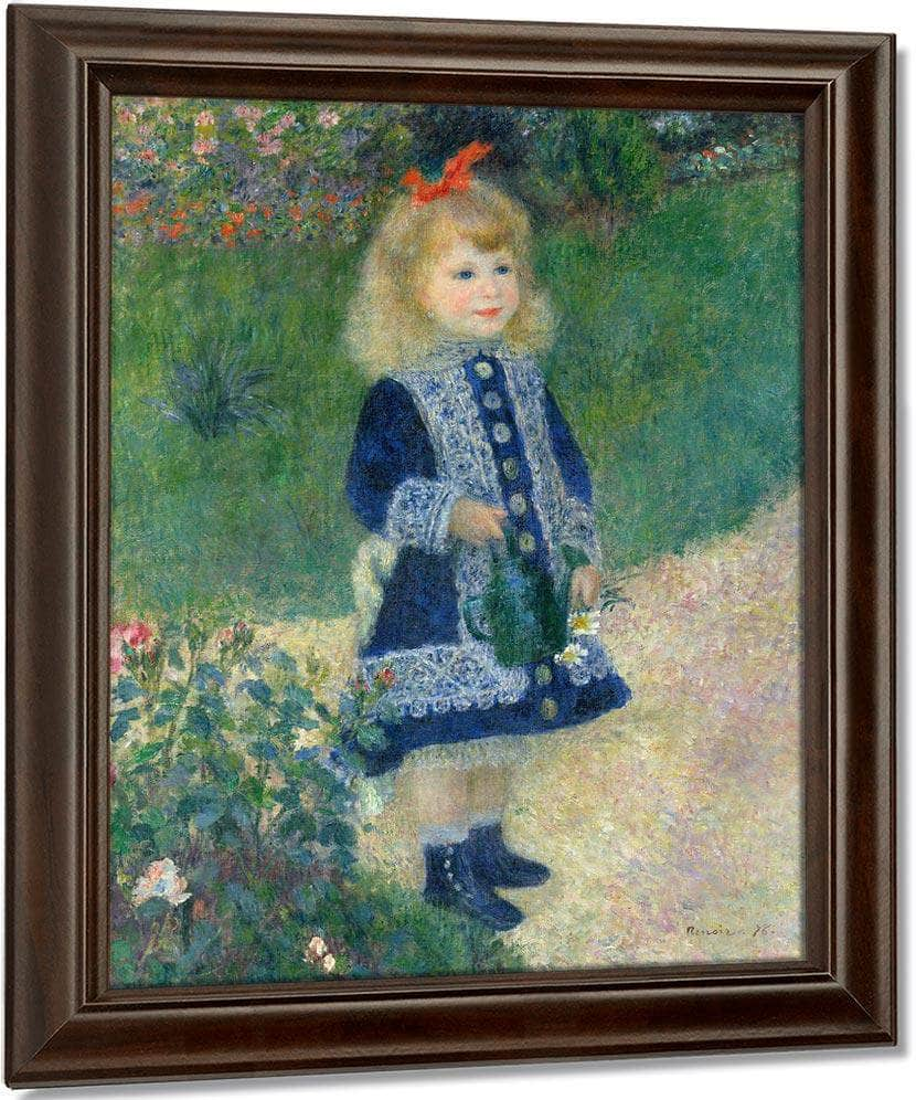 A Girl With A Watering Can 1876 2 By Pierre Auguste Renoir