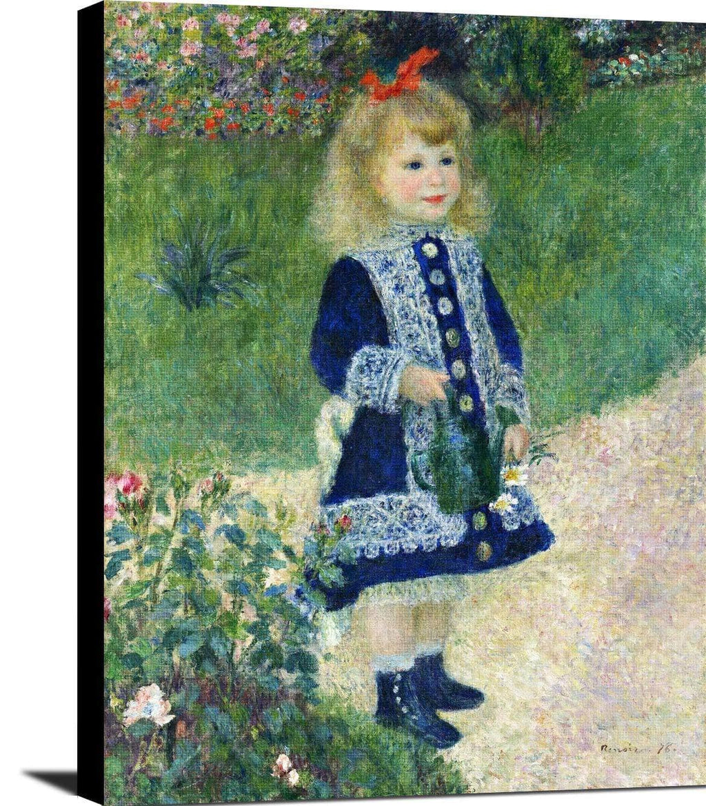 A Girl With A Watering Can Painting Auguste Renoir Canvas Art