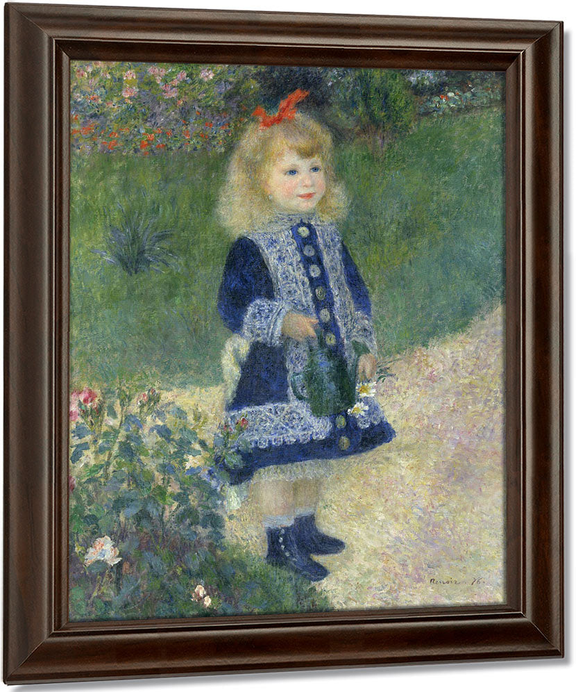 A Girl With A Watering Can By Pierre Auguste Renoir
