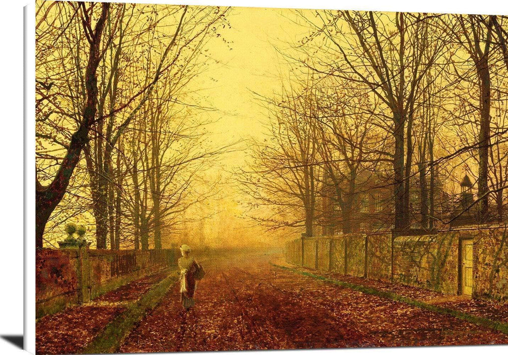 A Golden Idyll Painting John Atkinson Grimshaw Canvas Art