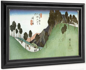 A Green Valley With Trees By Hiroshige