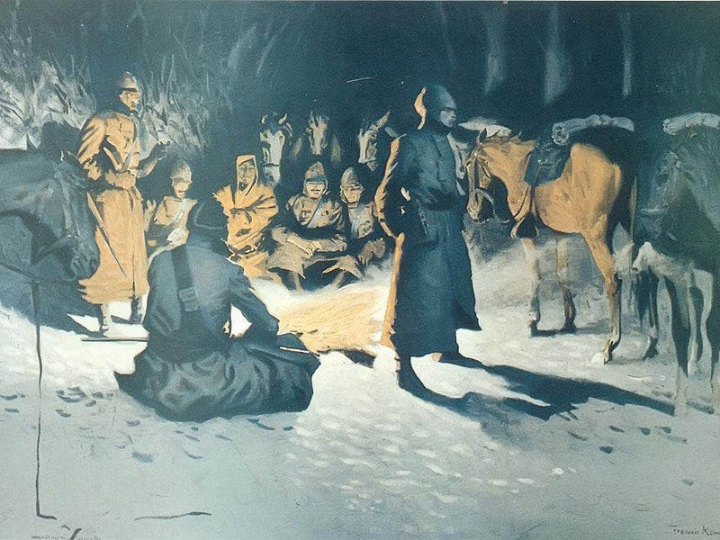 A Halt In The Wilderness By Frederic Remington