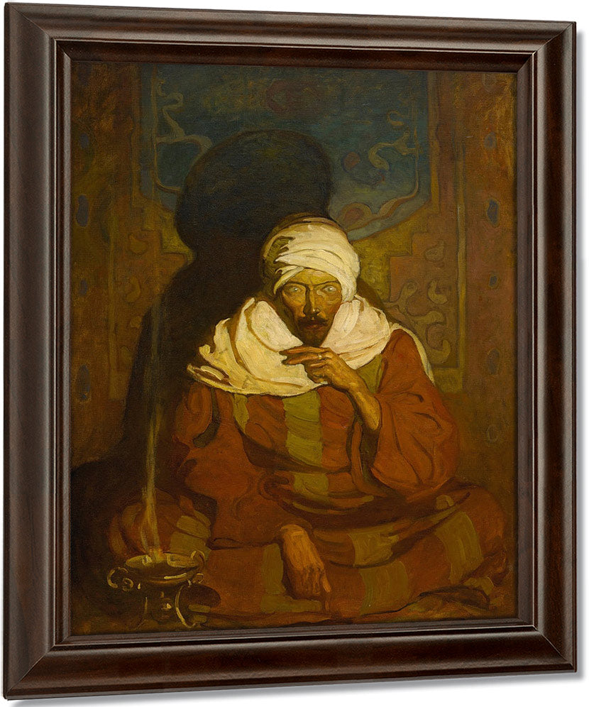 A Hindu Mystic (Seated Arab) By Nc Wyeth