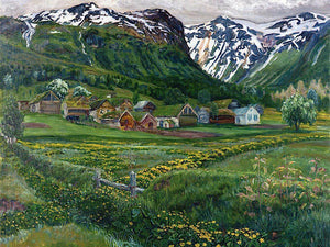 A June Night And Old Jolster Farm Nicolai Astrup