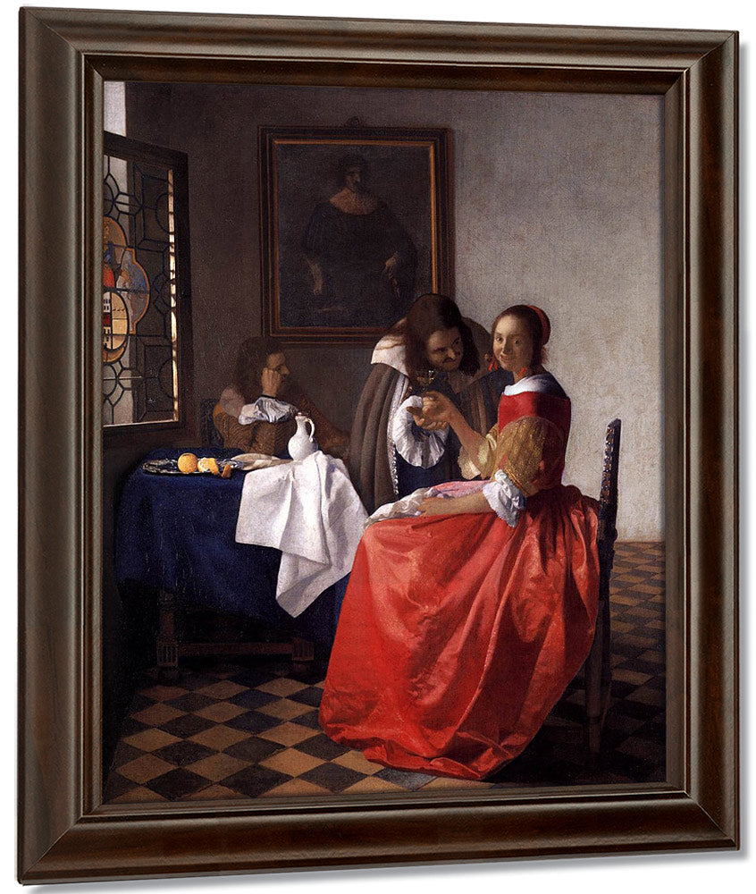 A Lady And Two Gentlemen 1659 By Johannes Vermeer