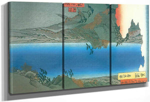 A Lage Waterfall By Hiroshige