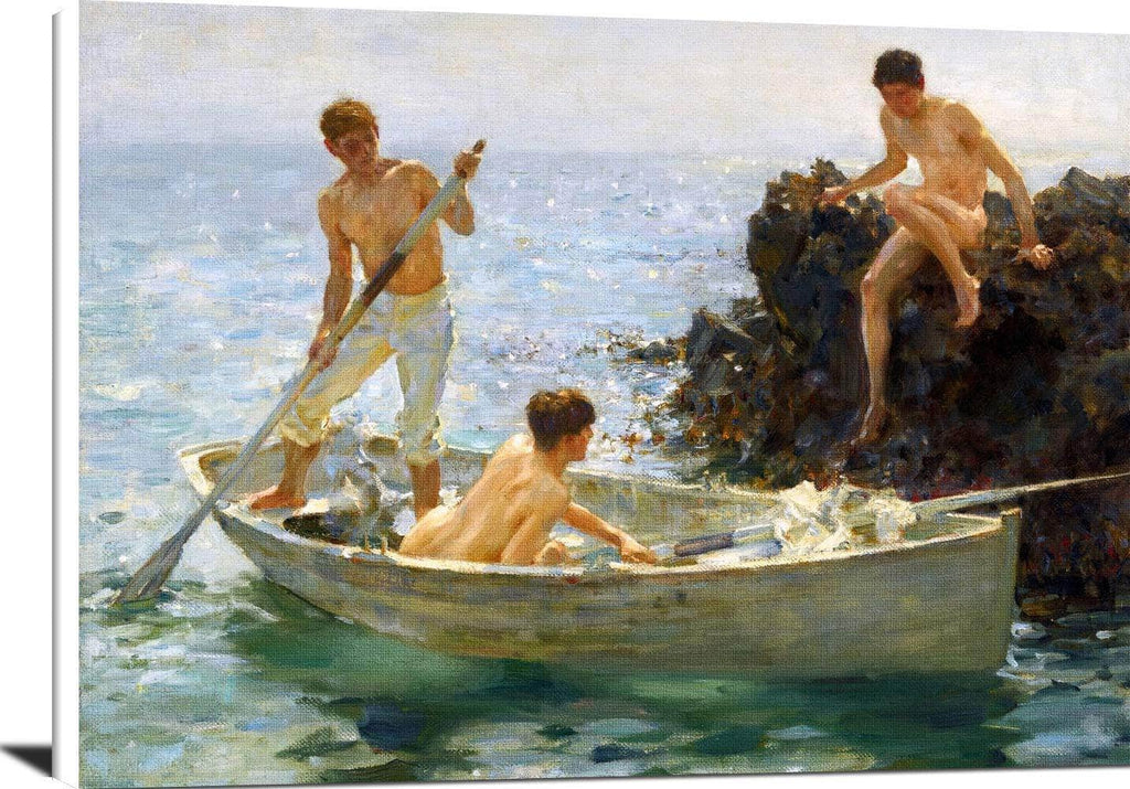 A Morning Splendour Painting Henry Scott Tuke Canvas Art