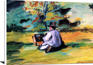 A Painter At Work Painting Paul Cezanne Canvas Art