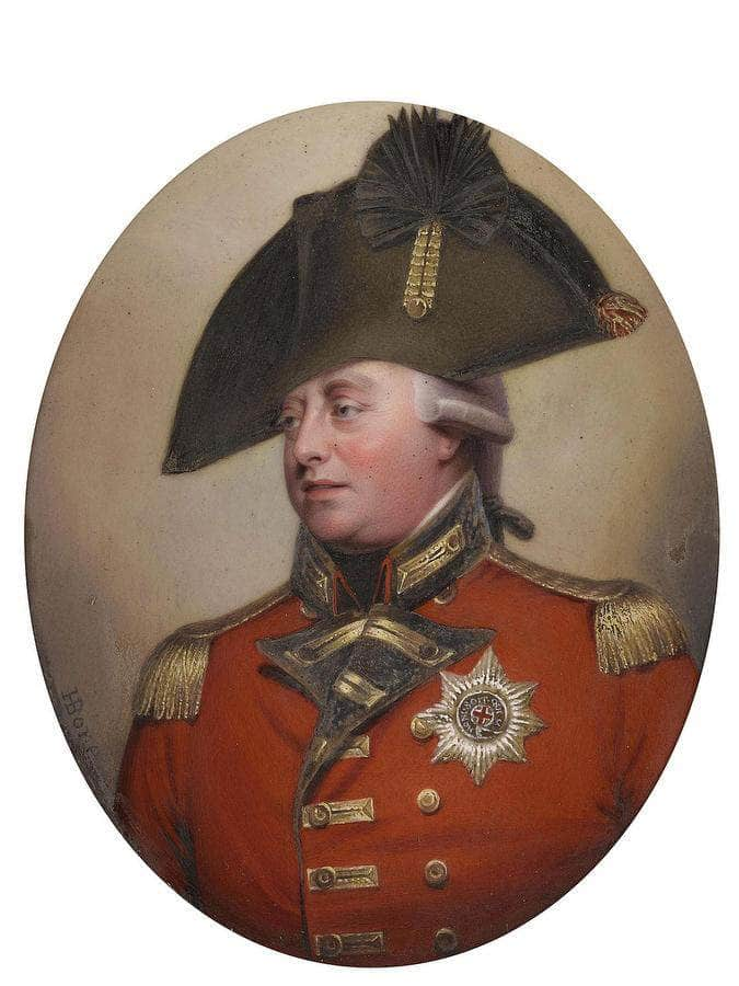 A Pair Of Miniatures Portraying George Iii (1738 1820), King Of Great Britain And Ireland (1760 1801), King Of The United Kingdom (1801 1820) By William Henry Walker