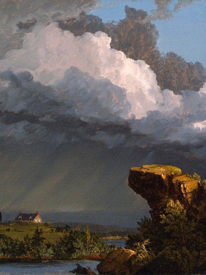A Passing Storm By Church, Frederic Edwin
