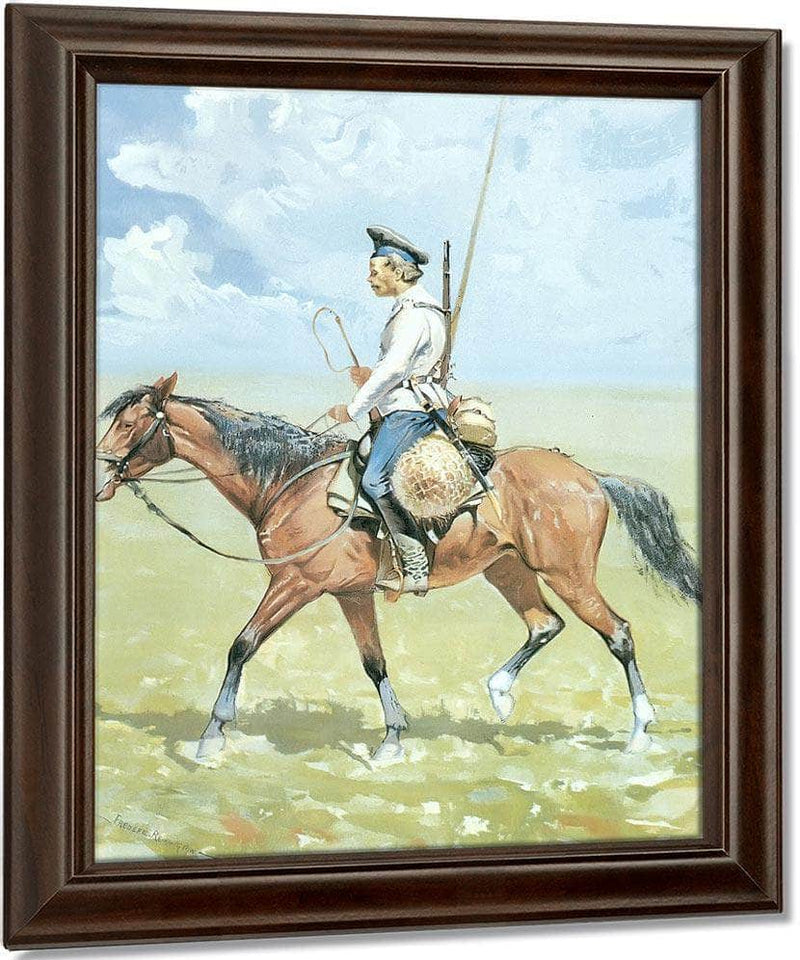 A Russian Cossack By Frederic Remington