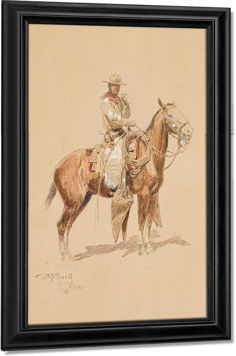 A Shadow Rider By Charles Marion Russell