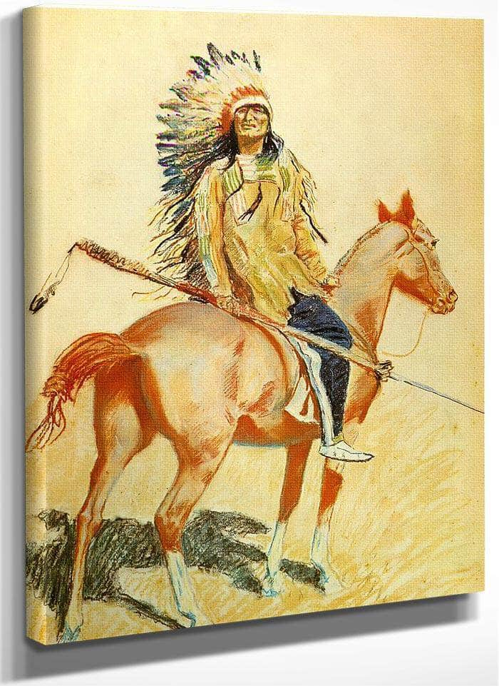 A Sioux Chief By Frederic Remington