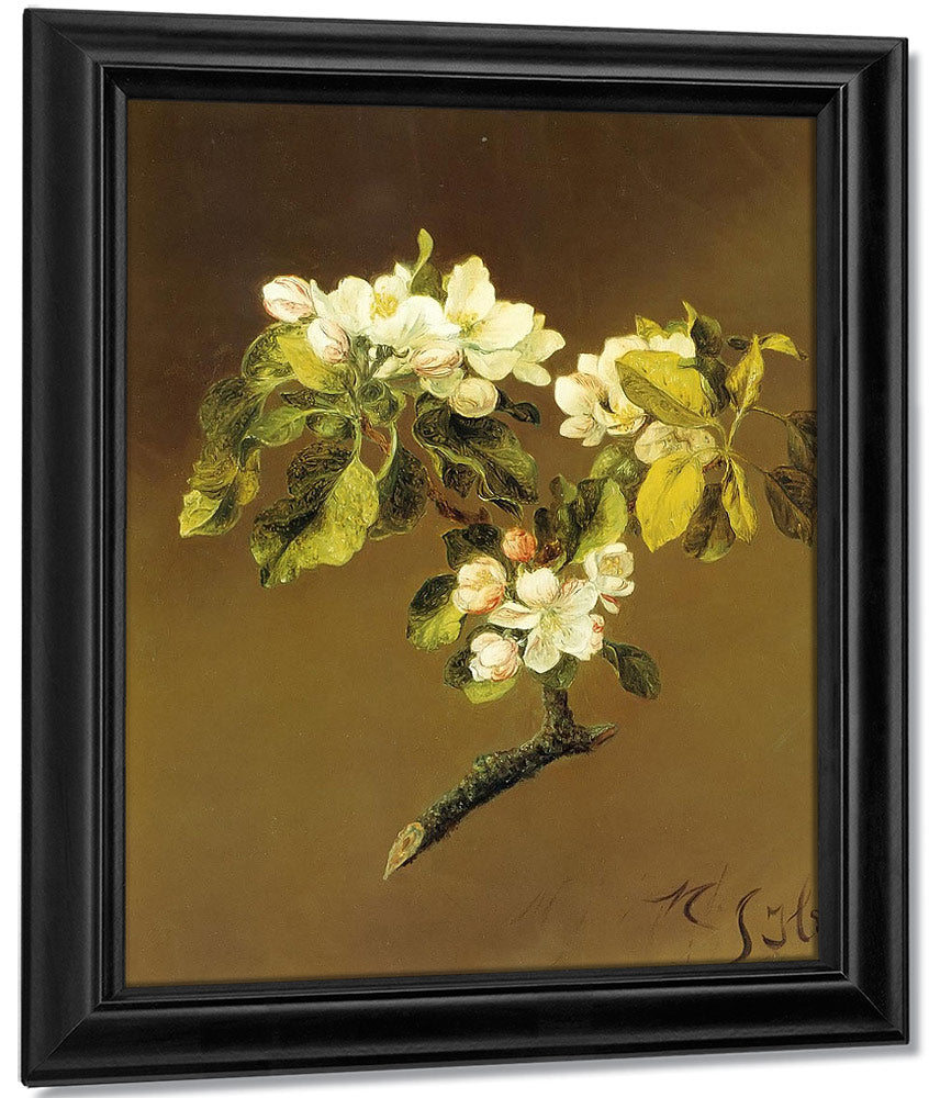 A Spray Of Apple Blossoms By Martin Johnson Heade
