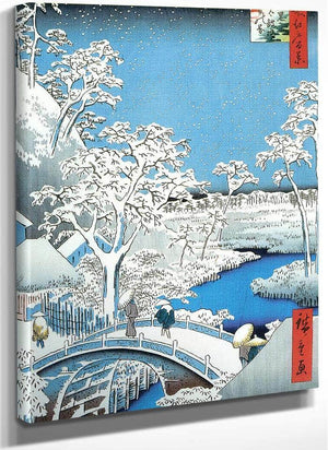 A Stone Bridge In The Snow By Hiroshige