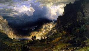 A Storm In The Rocky Mountains, Mt. Rosalie Painting Bierstadt Canvas Art