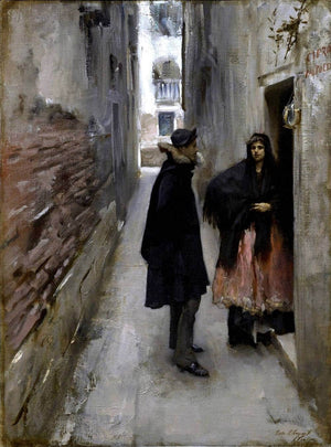 A Street In Venice Painting John Singer Sargent Canvas Art