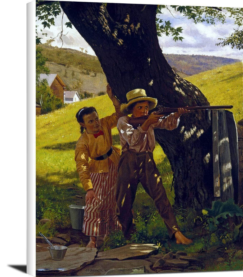 A Sure Shot Painting John George Brown Canvas Art