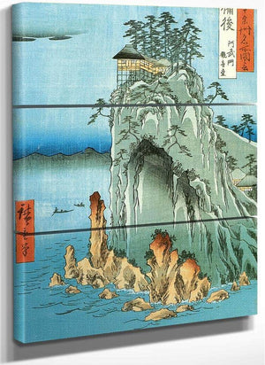 A Temple On A High Rock By Hiroshige