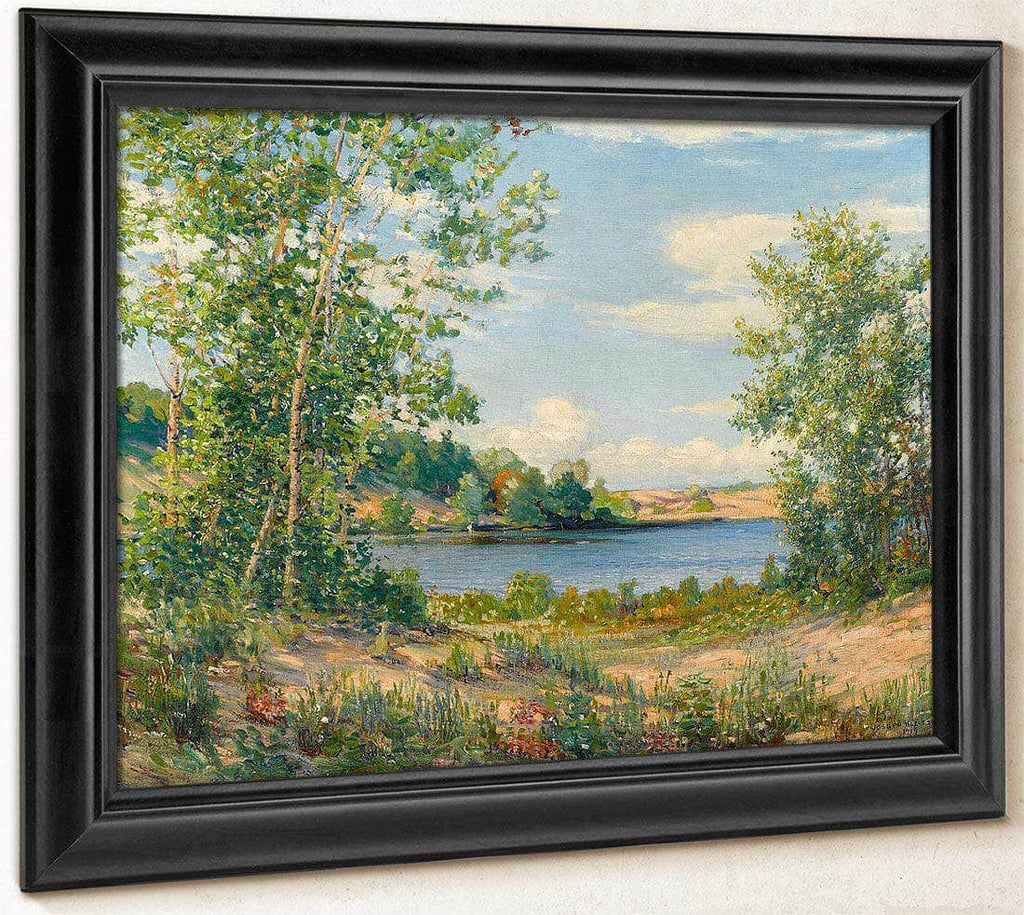 A View Across The Lake, Saugatuck, Michigan, 1919 By Joseph Kleitsch